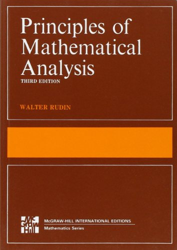 9780070856134: The Principles of Mathematical Analysis (International Series in Pure & Applied Mathematics)