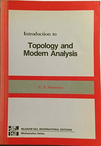 9780070856950: Introduction to Topology and Modern Analysis