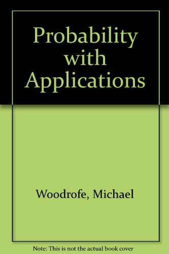 9780070858671: Probability with Applications