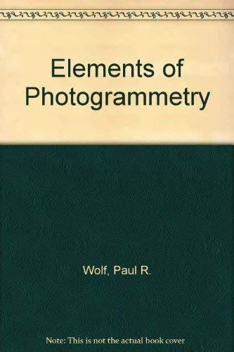 9780070858787: Elements of Photogrammetry