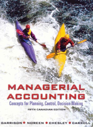9780070871113: Managerial Accounting : Concepts for Planning, Control, Decision Making