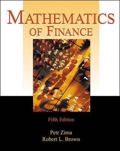 Mathematics of Finance: Zima, Petr; Brown,