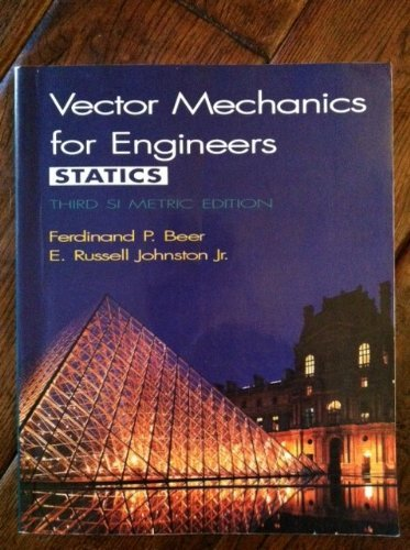 9780070873735: Vector Mechanics for Engineers Statics, Third SI Metric Edition