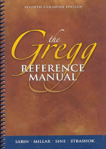 9780070877375: The Gregg Reference Manual, Seventh Edition