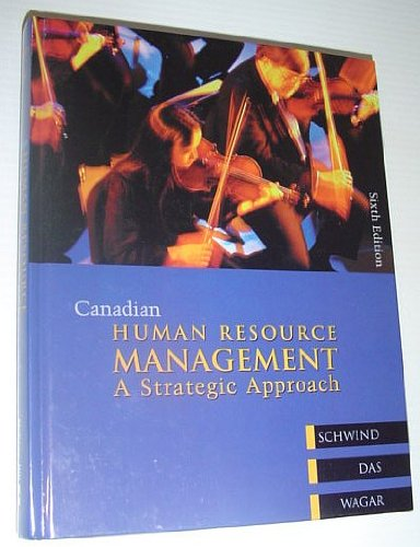 9780070887350: Canadian Human Resource Management