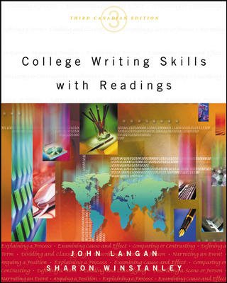 College writing skills readings by john langan abebooks college writing skills with readings 3rd edition john langan sharon fandeluxe