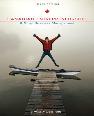 9780070888685: Canadian Entrepreneurship and Small Business Management
