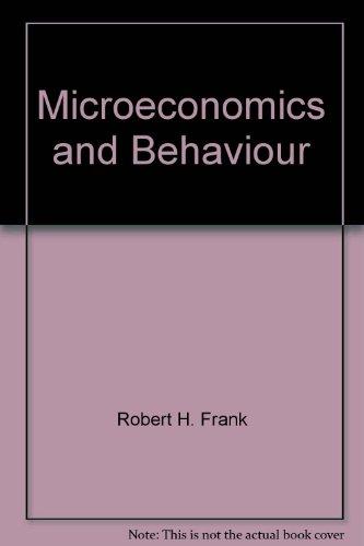 9780070889705: Microeconomics & Behaviour