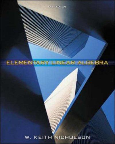 9780070892293: Element Linear Algebra