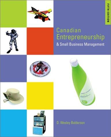 9780070894273: Canadian Entrepreneurship & Small Business Management