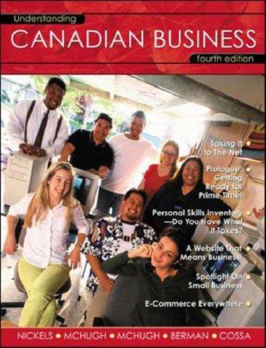 Understanding Canadian Business: McHugh, James; McHugh,
