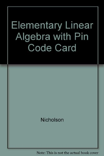 9780070902954: Elementary Linear Algebra with Pin Code Card