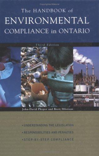 9780070907959: The Handbook of Environmental Compliance in Ontario