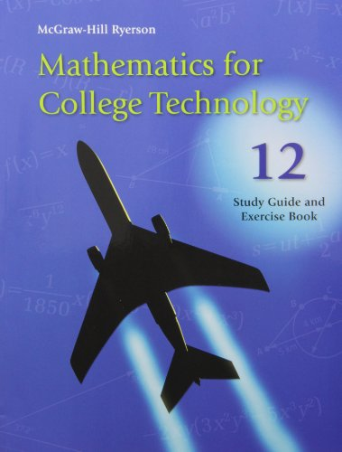 9780070908932: Mathematics for College Technology 12 Study Guide and Exercise Book