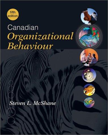 9780070912328: Canadian Organizational Behaviour