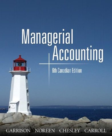 9780070915169: Managerial Accounting