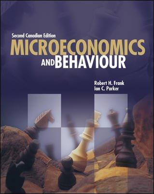 Microeconomics & Behaviour: Robert H Frank,