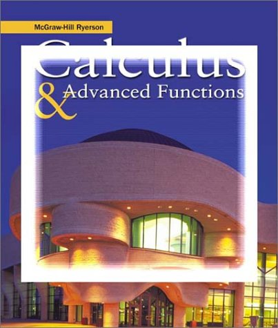 9780070917095: McGraw-Hill Ryerson Calculus & Advanced Functions