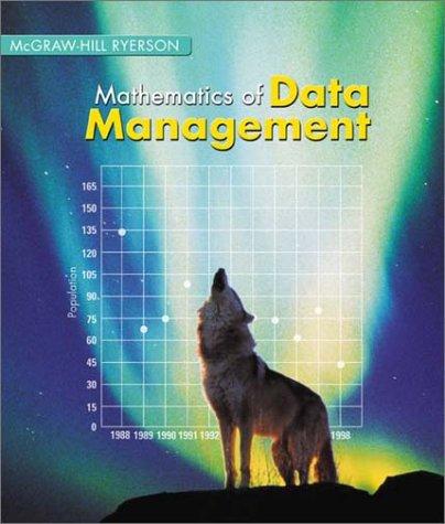 9780070917149: Mathematics of Data Management 12