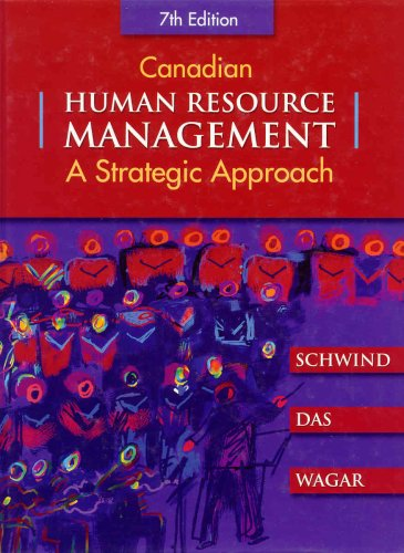 9780070917187: Canadian Human Resource Management
