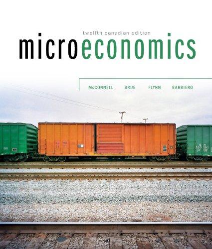 9780070919525: Microeconomics, 12th Cdn Edition w/ Connect Access Card