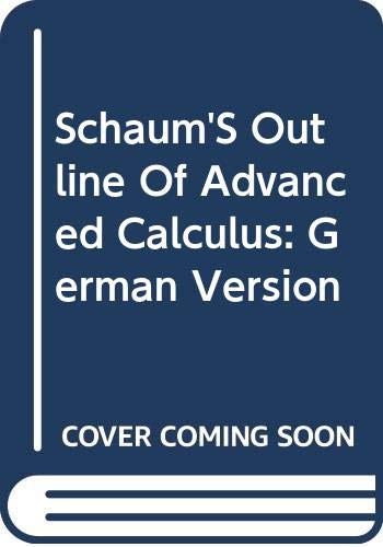 9780070920170: Schaum'S Outline Of Advanced Calculus: German Version