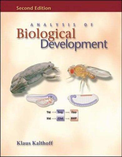 9780070920378: Analysis of Biological Development
