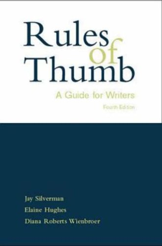9780070920743: Rules of Thumb: Guide for Writers
