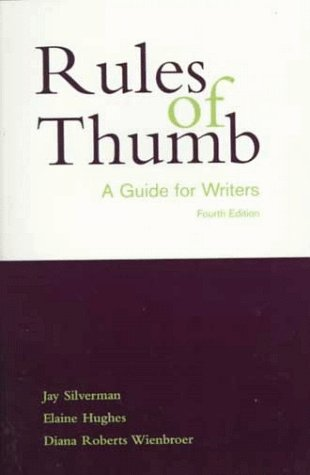 9780070920774: Rules of Thumb: A Guide for Writers