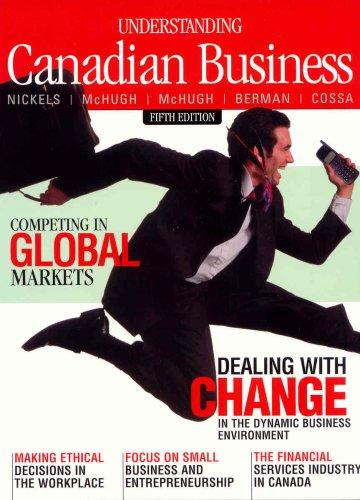 Understanding Canadian Business: William G Nickels,