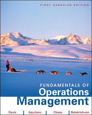 Fundamentals of Operations Management: Davis, Mark M.; Aquilano, Nicholas J.; Balakrishnan, Jaydeep...