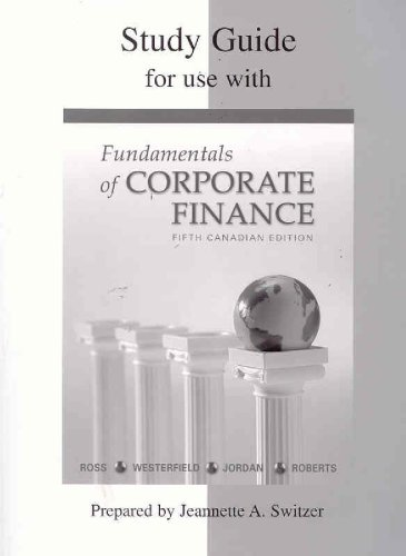 9780070922846: Study Guide for use with Fundamentals of Corporate Finance