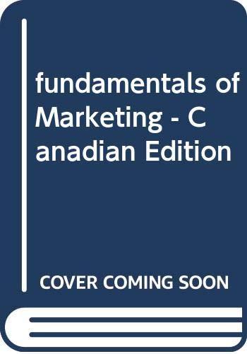 9780070927704: fundamentals of Marketing - Canadian Edition