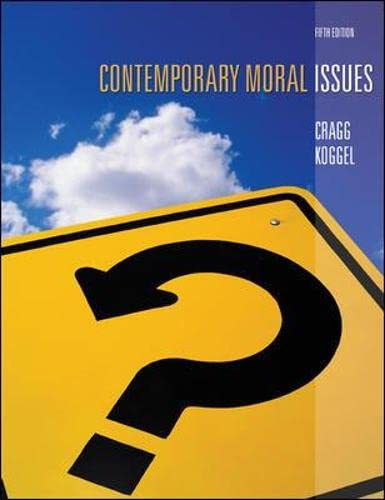 9780070930100: Contemporary Moral Issues