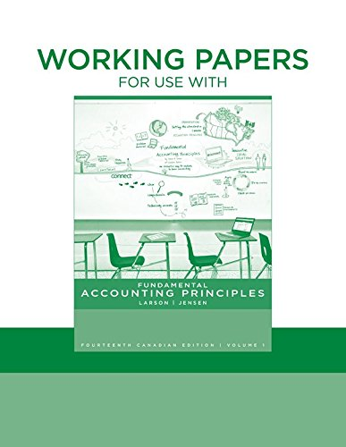 9780070932074: Working Papers for Fundamental Accounting Principles, Volume 1