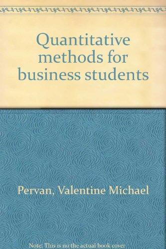 9780070932418: Quantitative methods for business students