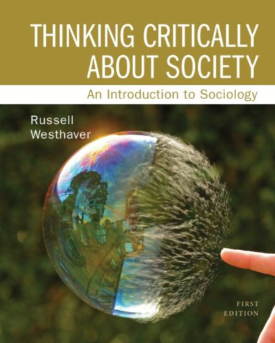 9780070939905: Thinking Critically about Society: An Introduction to Sociology