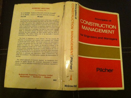 9780070940277: Principles of Construction Management for Engineers and Management