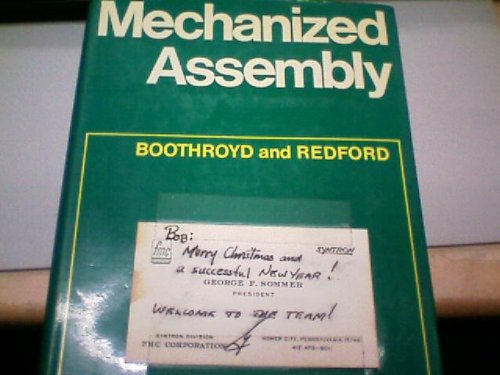 9780070940581: Mechanized assembly; fundamentals of parts feeding, orientation, and mechanized assembly