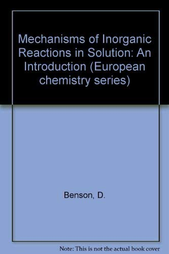 9780070940741: Mechanisms of Inorganic Reactions in Solution: An Introduction (European chemistry series)