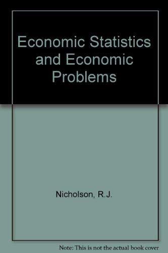 9780070940758: Economic Statistics and Economic Problems