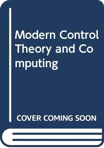 9780070941052: Modern Control Theory and Computing