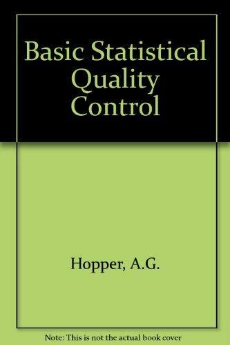 9780070941090: Basic Statistical Quality Control