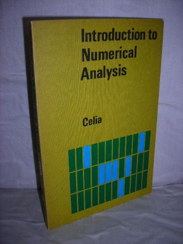 An Introduction to Numerical Analysis.: Celia, C W