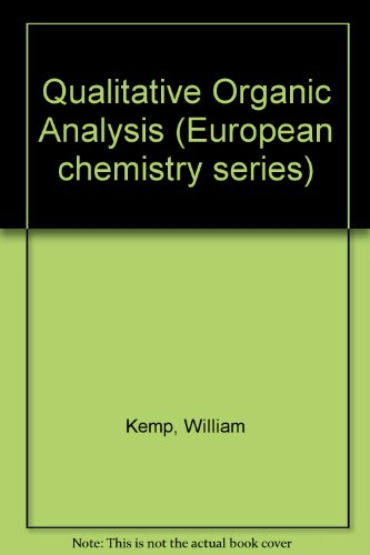 9780070941267: Qualitative Organic Analysis (European chemistry series)