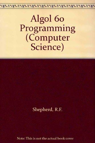 9780070941427: Algol 60 Programming (Computer Science)