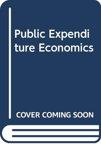 9780070941489: Public Expenditure Economics