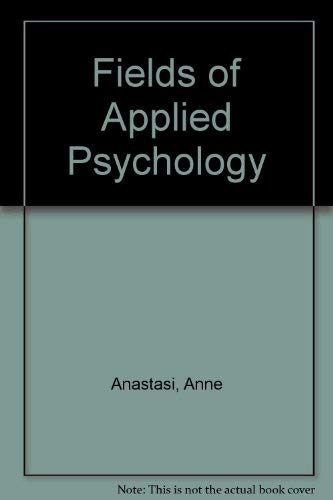 9780070941946: Fields of Applied Psychology