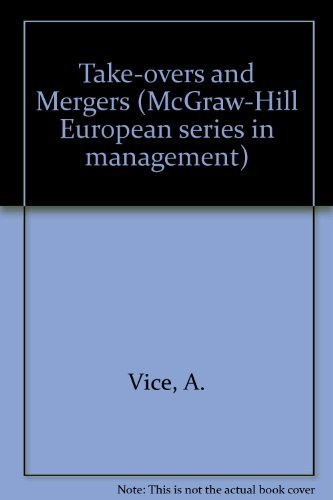 9780070942356: Take-overs and Mergers (McGraw-Hill European series in management)