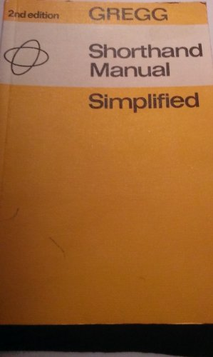 9780070944008: Gregg Shorthand Manual Simplified